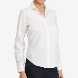NWT Lauren Ralph Lauren Non-Iron Shirt XS